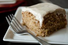 Spiced Zucchini Cake with Maple Cream Cheese Frosting