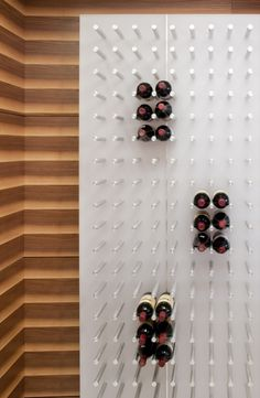 cool wine wall - plus it can be a game, like the one on the Price is Right! Win-Win!