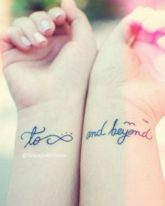 not a big fan of the infinity sign tattoo or anything else very generic, but this is cute