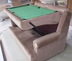 Pool Table Couch This is just a genius design for small spaces.