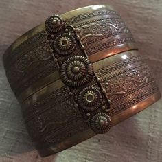 My favorite antique look cuff Only a few years old but looks like it could have been in your family for years.  I love this piece but don't wear it enough so someone else should be able to enjoy this artful cuff bracelet. Jewelry Bracelets