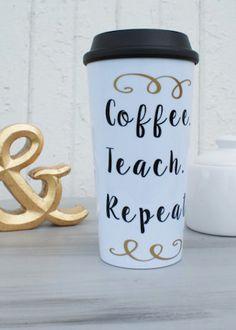 cute travel mug for the teacher