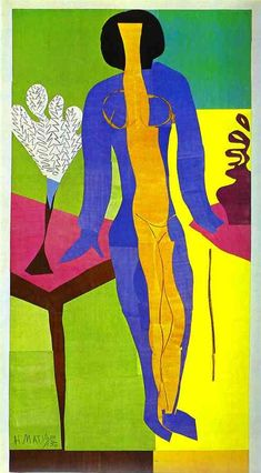 "Henri Matisse - ""Zulma"" - - Gouache on paper cut-out - Statens Museum For… Henri Matisse, Matisse Art, Andre Derain, Art And Illustration, Illustrations, Raoul Dufy, Matisse Pinturas, Matisse Cutouts, Franz Kline"