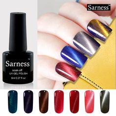 Sarness Brand Long Lasting 3D Cat Eye UV Gel Polish Lucky Colors Nail Art Magnetic Stick Gel Lacquer Soak Off Gel Varnish