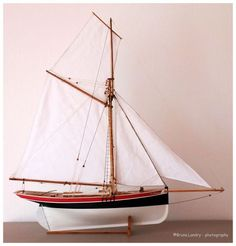 "Model of the ""St-Michel"", Jules Vernes' yacht built in Le Havre"
