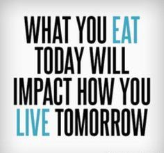 #Truth..  Do you want a healthy tomorrow? Then start living right today.