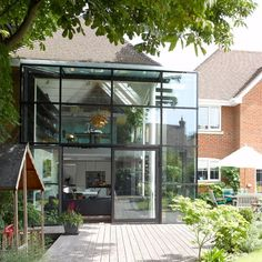 Modern glass panel extension | Modern extensions | Extension ideas | PHOTO GALLERY | housetohome.co.uk