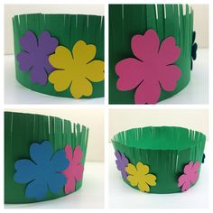 Flowers on Grass Crown- Hawaiian Lei & Grass Crown Craft Project for Kids (The Bird Feed NYC)