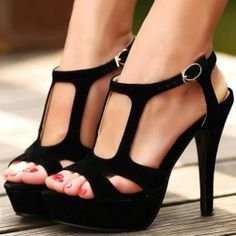 Summer shoes Black velvet gladiator style sandals with high quality $50.87
