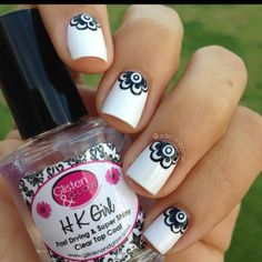 315 Best Nail Art Black White Images On Pinterest In 2018