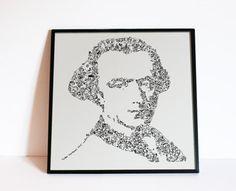 Immanuel Kant  Drawings inside the portrait  by DrawInside on Etsy