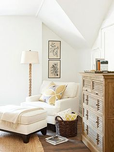 Having a reading nook in the master bedroom would be awesome,all I would add is a small table to keep my laptop!
