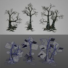 Low Poly Dead Tree Pack - 3DOcean Previewer