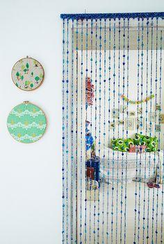 I totally want bead doors in my house.  Hippy at heart.