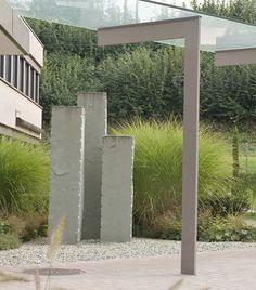 Popular Steinstelen Steinsichtschutz Sichtschutz Garten nat rlicher Sichtschutz