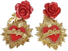Dolce & Gabbana Sacred Heart Earrings