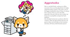 Sanrio's Aggretsuko is an office worker who deals with her rage by singing death metal karaoke