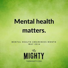 May is Mental Health Awareness Month. Spread the word. #mentalhealth