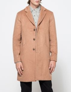 $339, Camel Overcoat: Shades of Grey Overcoat. Sold by Need Supply Co.. Click for more info: https://lookastic.com/men/shop_items/339580/redirect