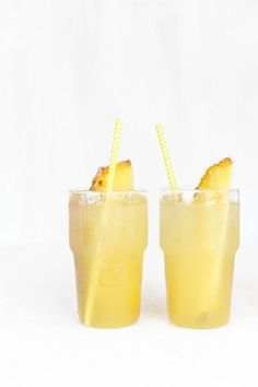 Pineapple Crush - Coconut Rum, White Rum, Simple Syrup, Pineapple Juice.