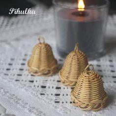 christmas decoration, tree bell, weaving basket, vánoční ozdoba, zvonek, zvoneček, zvonečky, woven, nature, natural