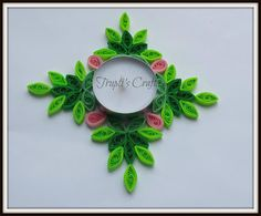 Trupti's Craft: Paper Quilling Candle Holders / Car Hanging / Wall...