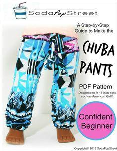 Soda Pop Street Chuba Pants Doll Clothes Pattern 18 inch American Girl Dolls | Pixie Faire