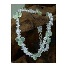 NOVICA Blue Ice Queen Quartz and Chalcedony Choker Necklace ($45) ❤ liked on Polyvore featuring jewelry, necklaces, chalcedony, choker, blue chalcedony jewelry, quartz necklace, clear crystal necklace, clear quartz jewelry and choker jewelry