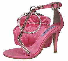 Bernice Candy Pink Evening Sandals. #pinkeveningsandals