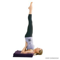 Supported Shoulderstand   Salamba Sarvangasana   Yoga Pose