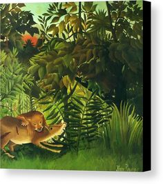 """New artwork made with love for you! - """" A Lion Devouring Its Prey 1905 Canvas Print / Canvas Art by Rousseau Henri """" - https://ift.tt/2sZrJX4"""