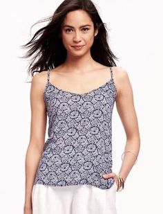 6234771453d047 Details about Old Navy Women s Navy Rayon Sleeveless Open-Back Cami Top  L XL sizes NWT