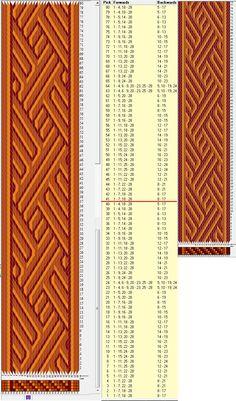 28 tarjetas, 3 colores, repite cada 40 movimientos // sed_576 diseñado en GTT༺❁