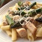 """Penne with Chicken and Asparagus  """"A light but super-tasty pasta dish, with fresh asparagus cooked in broth with sauteed garlic and seasoned chicken.""""  allrecipes.com"""