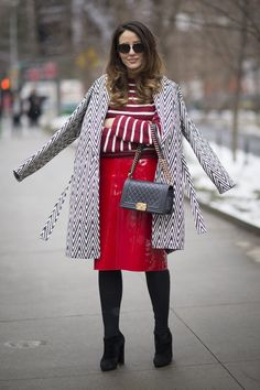 Pin for Later: These Street Style Pros Will Get You Out of Your Winter Outfit Rut NYFW Day 1 Tamara Kalinic.
