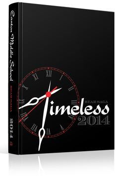 "Yearbook Cover - Canton Middle School - ""Timeless"" - Clock, Time, Timepiece, Watch, Clock Hands, Hour, Minute"
