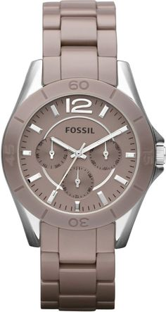 Fossil Women's CE1065 Riley Antique Pearl Ceramic Watch