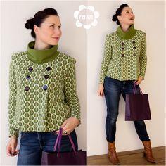 Retro Rolli für Damen - NELVITA olive meets Charlene. Ein Textildesign by raxn für alles-fuer-selbermacher | raxn | Bloglovin
