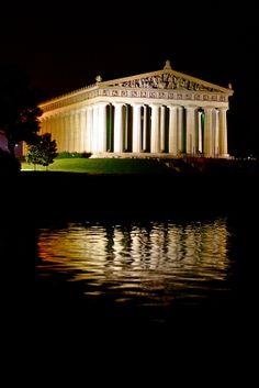 Reflection of the Parthenon, Centennial Park, Nashville, TN.