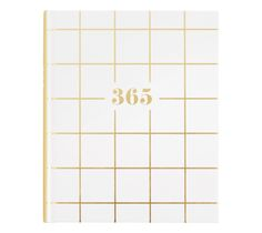 Be inspired to get creative with this beautiful unlined 365 Days Journal. Use it to capture precious memories, inspirations, ideas or simply to record everyday moments. The textured hardcover with gold foil lettering makes this pretty journal extra special. Add a matching pen and enjoy this daily journaling ritual.