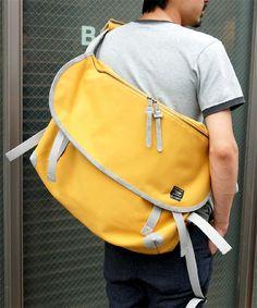 B印 YOSHIDA(×PORTER) / 2-tacs×PORTER MESSENGER BAG <for bjirushi yoshida>