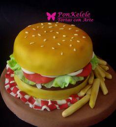 Hamburguesa Hamburger, Eat, Ethnic Recipes, Food, Hamburgers, Ornaments, Food Cakes, Meals, Yemek