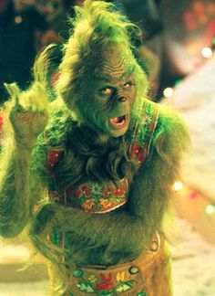 Jim Carrey in How Grinch Stole Christmas