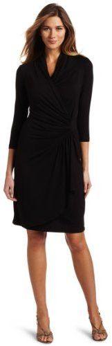Karen Kane Women's 3/4 Sleeve Cascade Wrap Dress on shopstyle.com