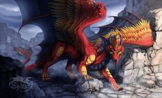 Ancient ruins by Soltia on DeviantArt Fantasy Creatures, Mythical Creatures, Tiamat Dragon, Furry Pics, Dragon Sketch, Cool Dragons, Dragon Artwork, Creature Drawings, Dragon Pictures