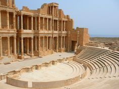 Amphitheaters are very old places where drama used to be presented and watched.