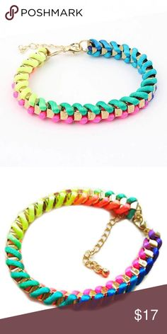 🆕 got Pride? Rainbow Ribbons Bracelet 🌈 This bracelet features a woven rainbow design with gold tone accents. Adjustable lobster clasp. Limited Quantities! Bundle & Save! jmeyesray Jewelry Bracelets