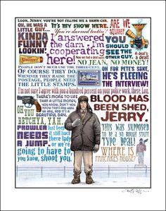 Cartel de Chet Philips sobre 'Fargo' de los hermanos Coen, con algunas de sus mejores líneas de diálogo.