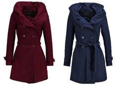 Only New Lisa Abrigo De Clasico Windsor Wine abrigos y chaquetas Wine Windsor Only New lisa clásico Abrigo Noe.Moda