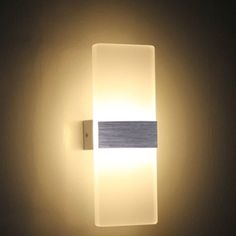NAVIMC Modern Acrylic LED Wall Sconces Aluminum Lights Fixture On/Off Decorative Lamps Night Light for Pathway, Staircase, Bedroom, Balcony ,Drive Way,Warm white (3500-4500K). Beautiful & Unique. Great for Price. Order Now http://amzn.to/1UVX9Bd